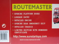ROUTEMASTER The GLC Years  Sun Star  2913  657440029131  1/24 2