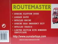 ROUTEMASTER The GLC Years  Sun Star  2913  657440029131  1/24 2