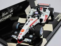 B・A・R Honda 007 Malaysian GP 2005  MINICHAMPS  400050104  4012138064669  1/43 2