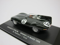Jaguar D type #6 Winner Le Mans 1955  ixo  LM1955  4895102303304  1/43 2