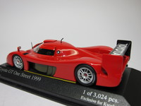 Toyota GT One Street 1999  MINICHAMPS  433991603  4012138064584  1/43 2