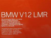 Art Car Jenny Holzer BMW V12 LMR  80430150916  1/18 3