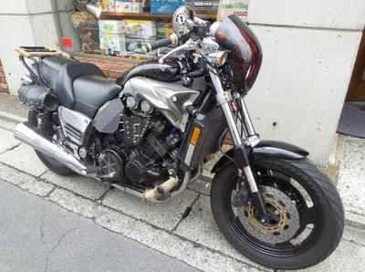 鎌倉 バイク 修理 ヤマハ V-max オイル漏れ ヘッドカバーガスケット交換 作業例