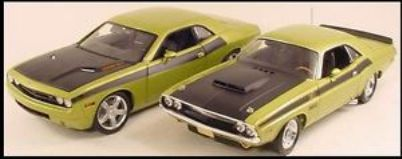 1970 Dodge Challenger RT  2006 Challenger Green 2 car set.JPG